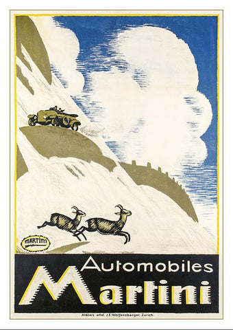 Postcard AUTOMOBILES MARTINI - Poster by Emil Cardinaux - 1916