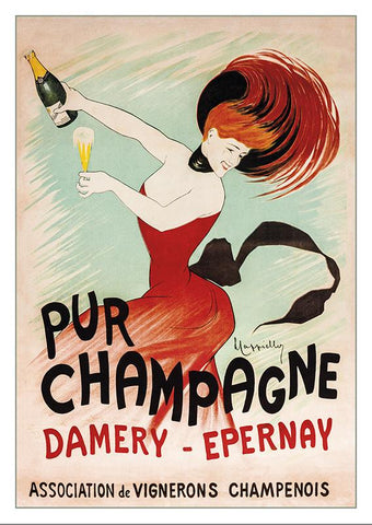 CHAMPAGNE DAMERY-ÉPERNAY - Poster by Leonetto Cappiello - 1902