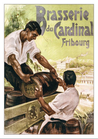 FRIBOURG - BRASSERIE DU CARDINAL - Poster by Franco Codognato vers 1910