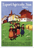 SION - EXPORT AGRICOLE - Poster by Albert Franzoni about 1906