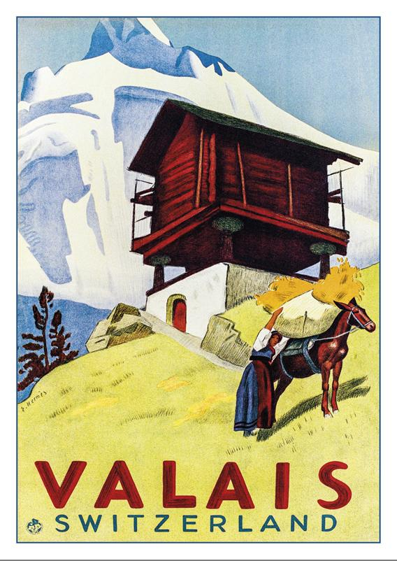 VALAIS - SWITZERLAND - Poster by Eric Hermès - 1938