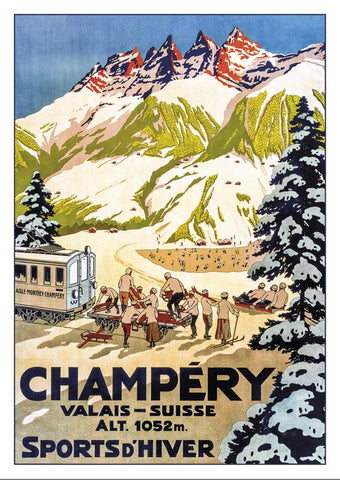 CHAMPÉRY - Poster about 1910
