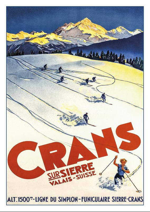 A-10706 - CRANS SUR SIERRE - Poster from 1938