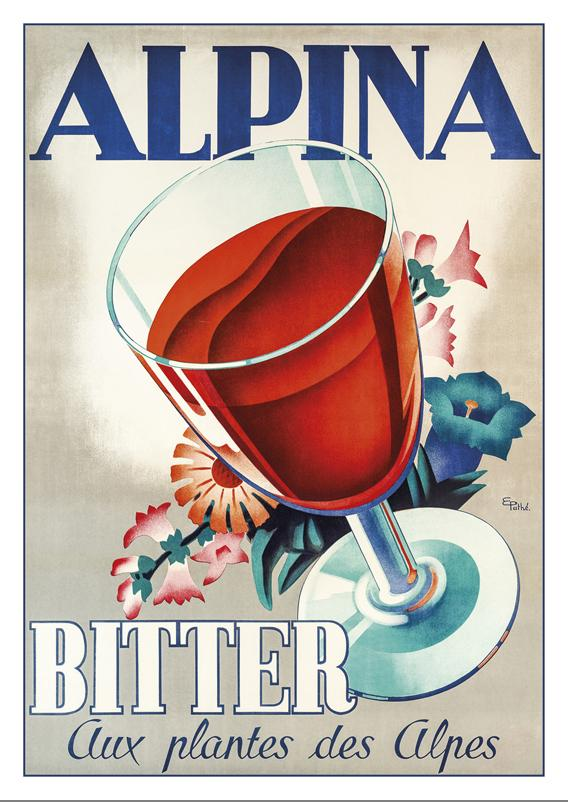 A-10712 - ALPINA - Poster by Eugene Patkevitch about 1938