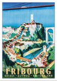 FRIBOURG - Poster by Willy Jordan - 1945