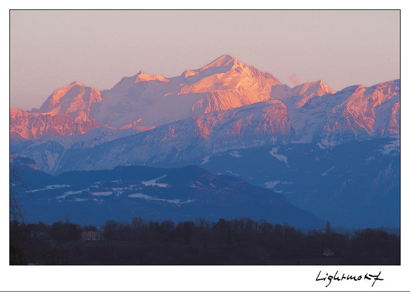 16065 - The Mont-Blanc from Geneva