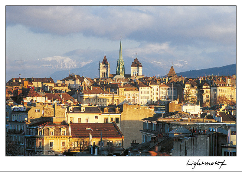 16253 - Geneva - Old town and St. Peter