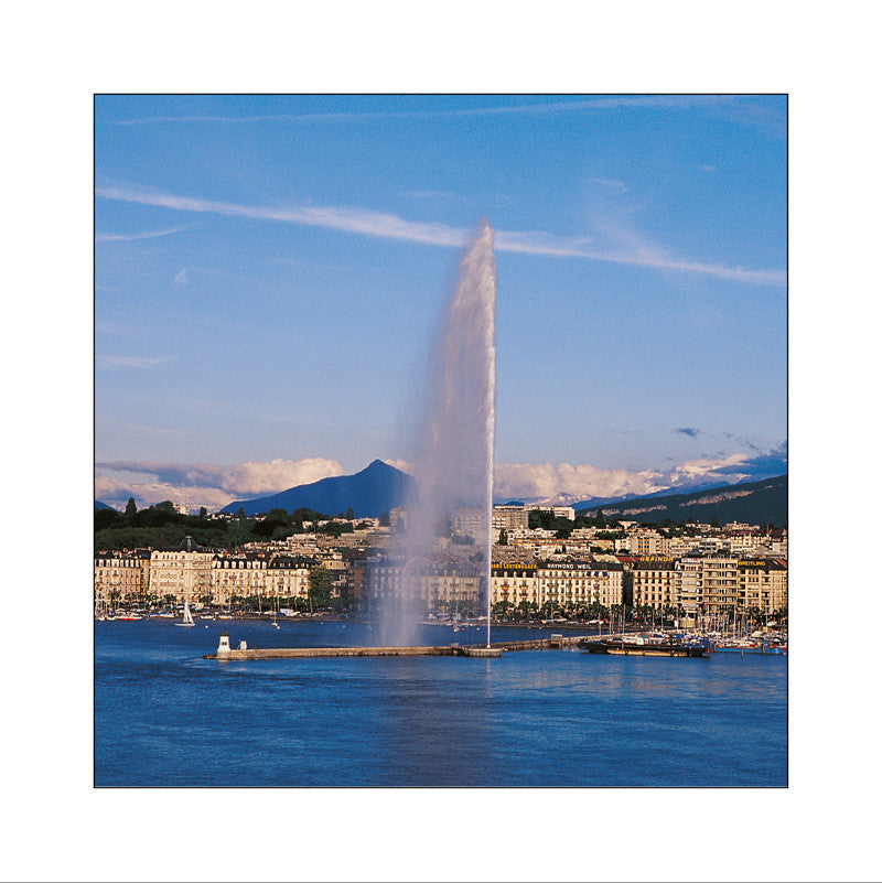 170259 - Geneva - The harbour and the Mont-Blanc, Switzerland