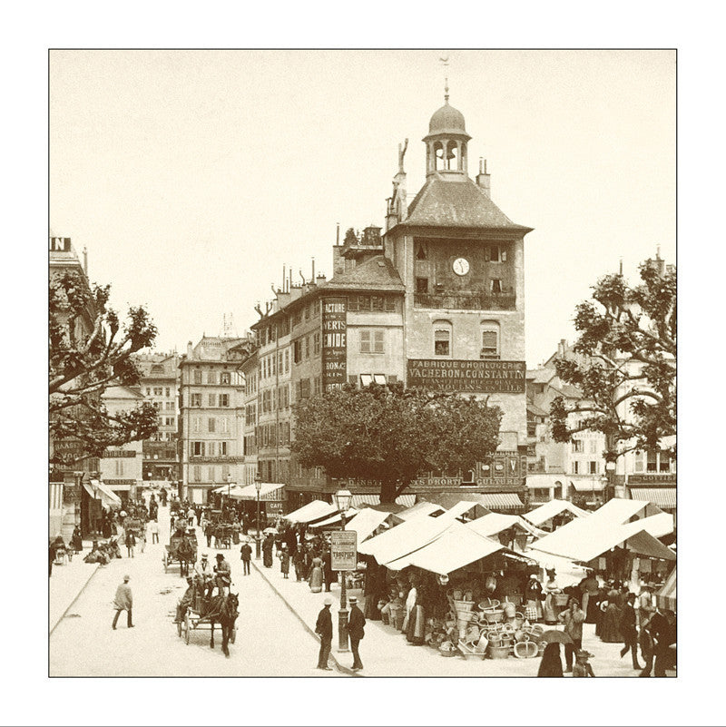 243034 - Geneva - Tour-de-l'Ile market about 1890, Switzerland