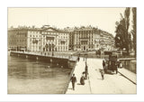 Geneva, le pont des Bergues vers 1895, Switzerland