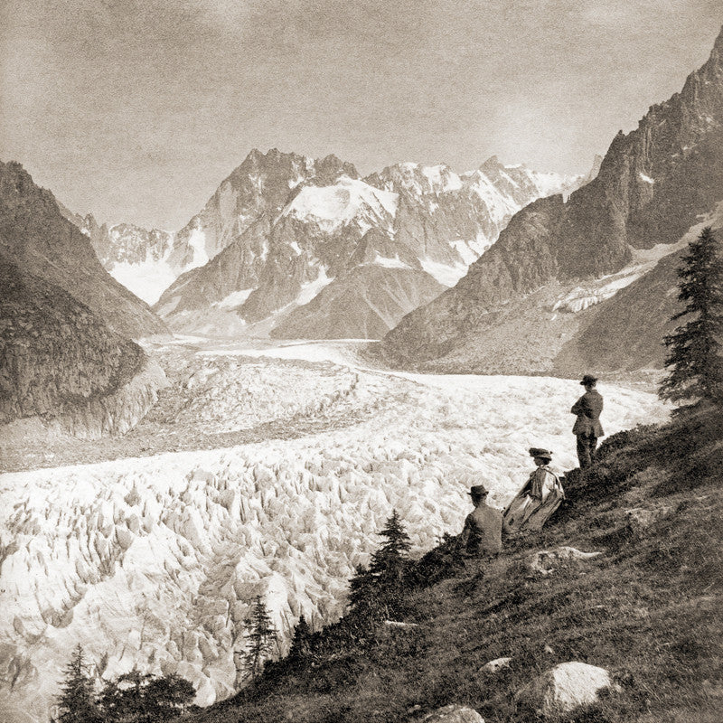 "73040 - Chamonix - ""La Mer de Glace"" from Montanvert in 1863, France"