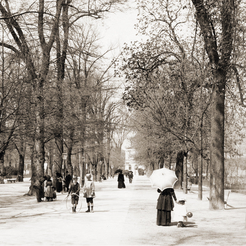 73046 - Geneva - Bastions park, about 1890, Switzerland