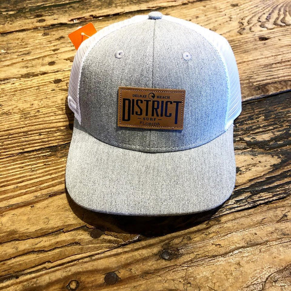 Surf District leather patch hat