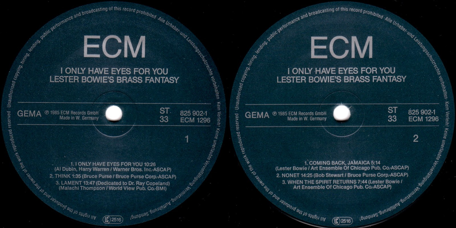 ECM record label design - Adsum