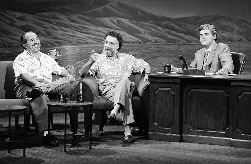 Ray and Tom on The Tonight Show starring Johnny Carson with Jay Leno as Guest Host