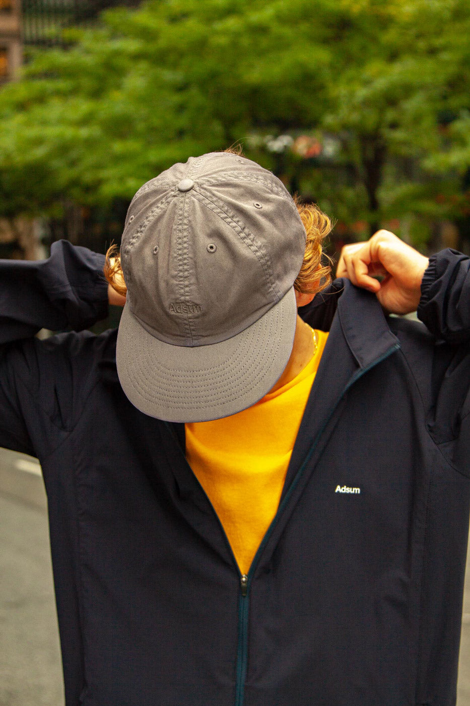 Overdyed Logo Hat in grey twill - Adsum