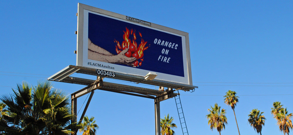 Oranges on Fire Billboard - Adsum