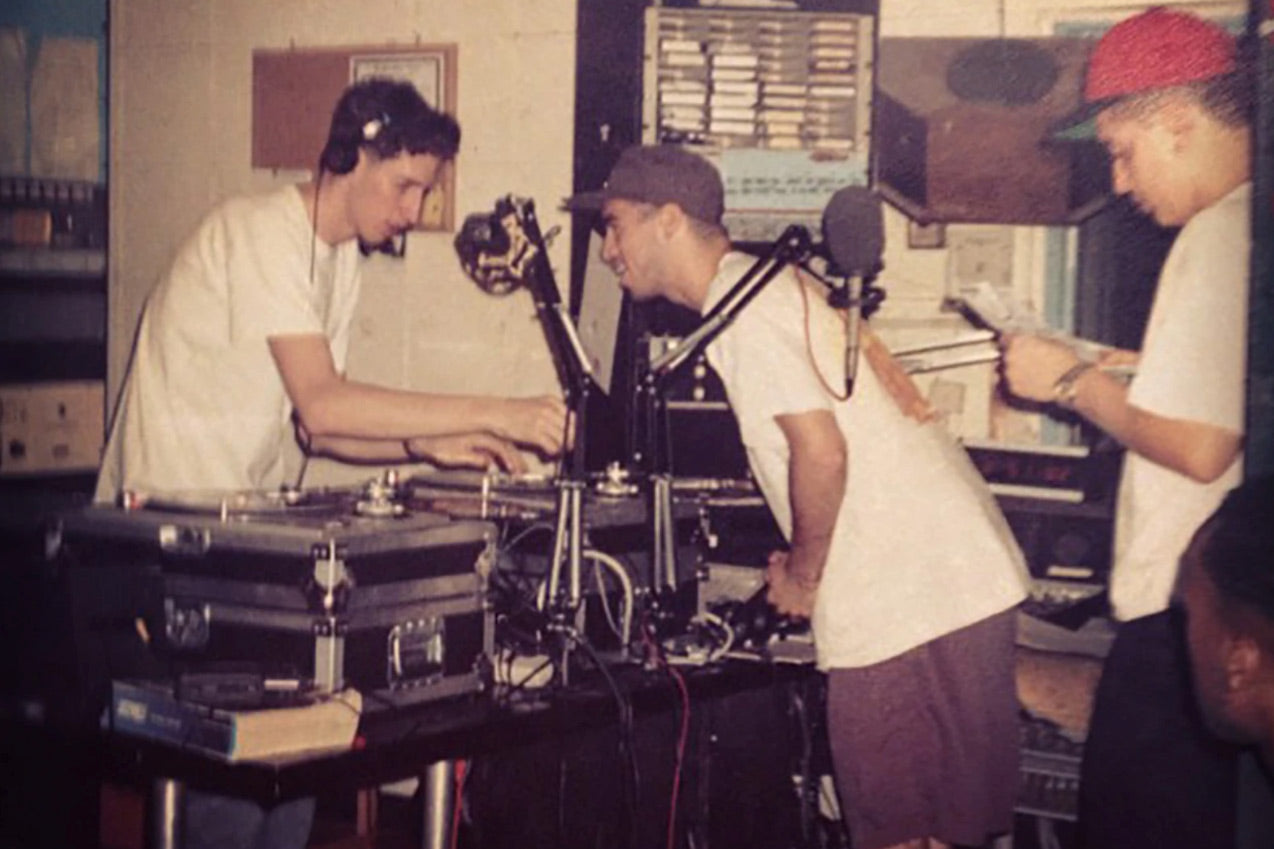 Stretch Armstrong, Bobbito Garcia, and Sam Sever on 89.9FM WKCR, an institution Columbia University's radio station. | Adsum