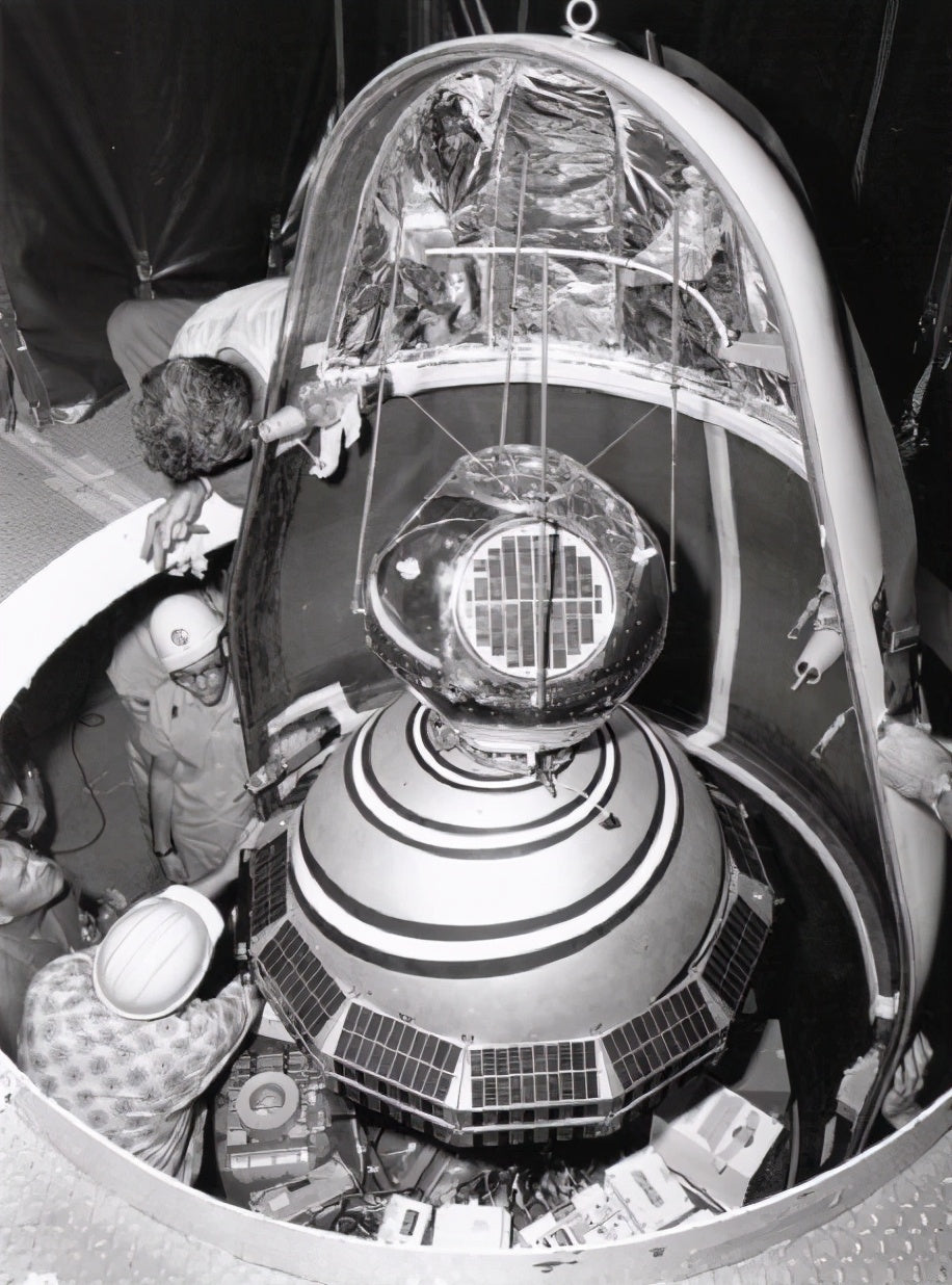 First GPS Satellite and a part of the TRANSIT program
