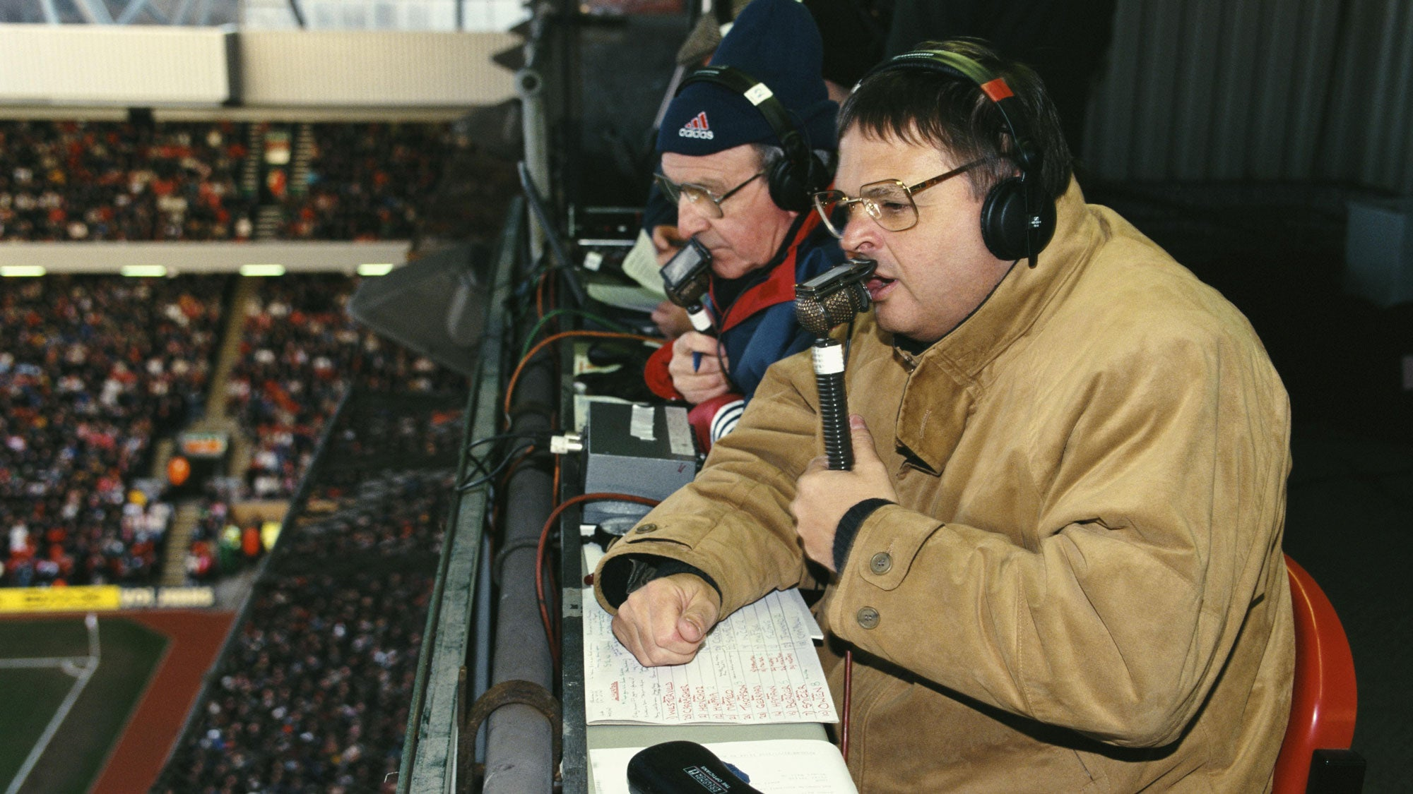 The longtime voice of football in the UK, Alan Green. | Adsum