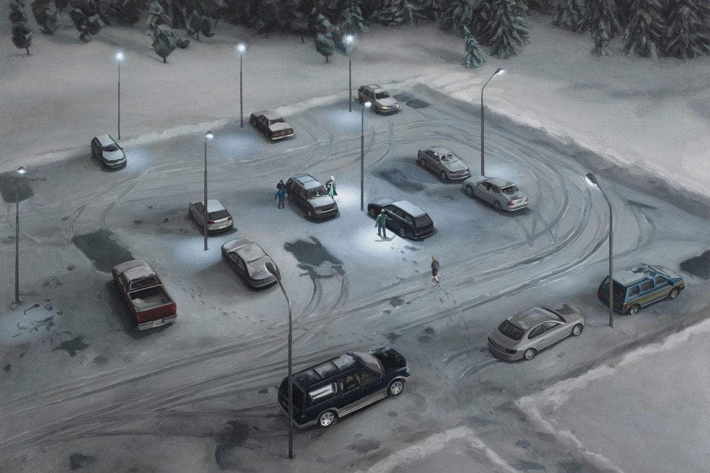 Amy Bennett Winter Parking Lot - Adsum