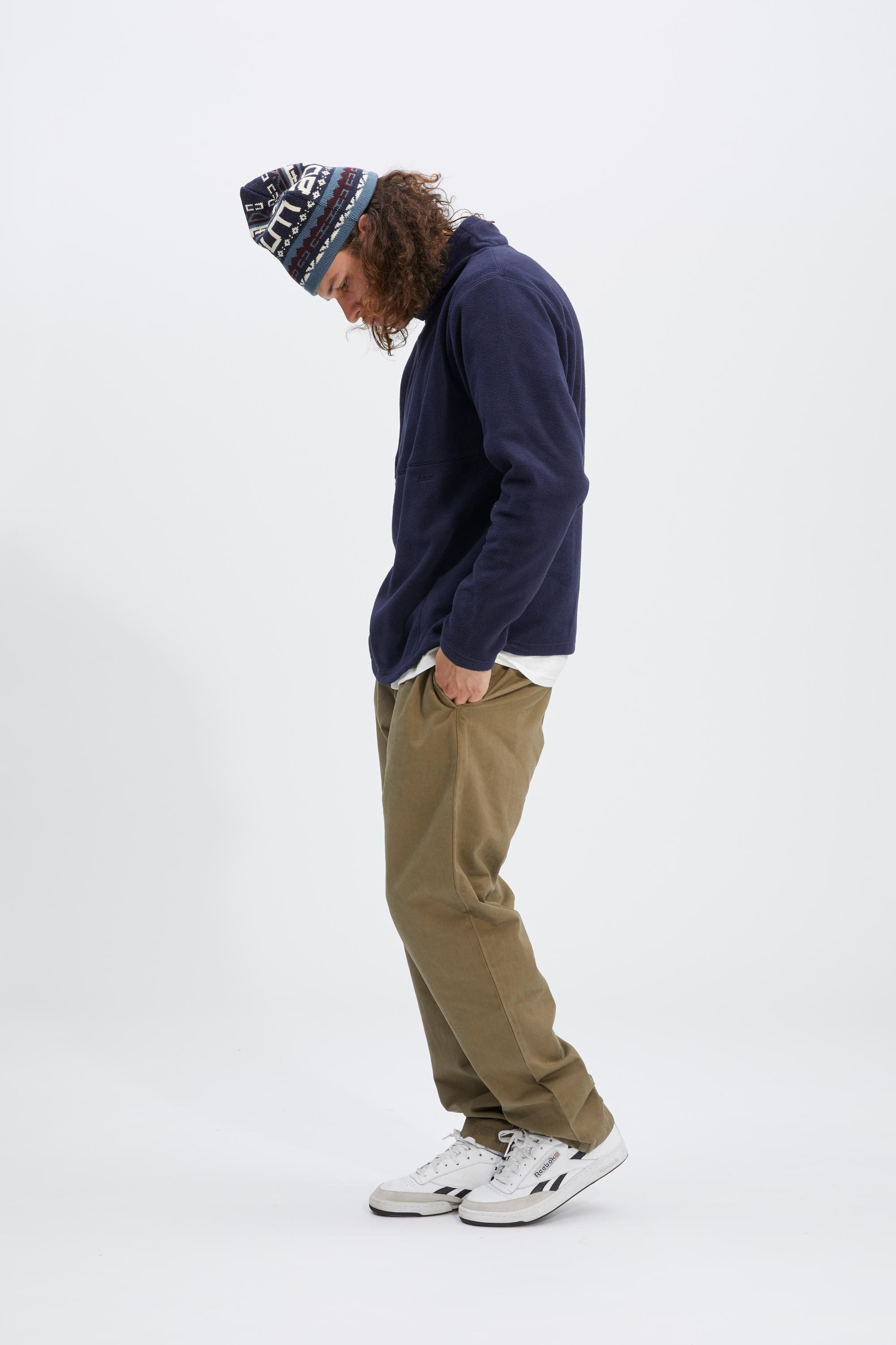 Flop Neck Fleece - Navy