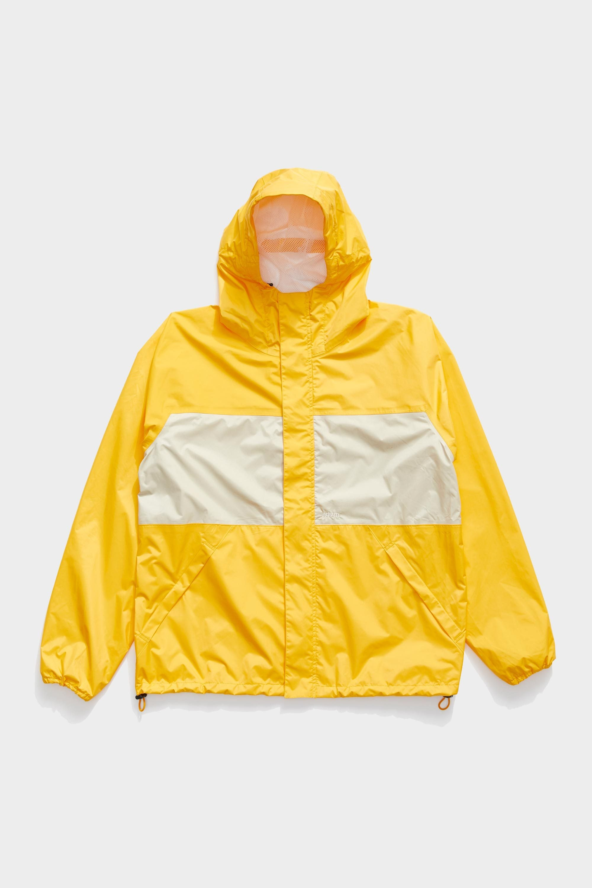 Full Zip Anorak - Yellow / Beige