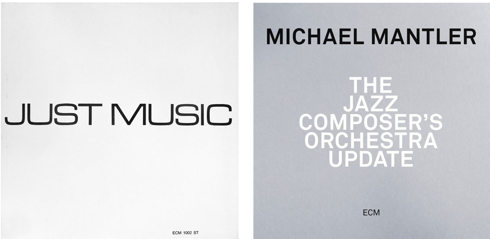 - Just Music and Michael Mantler designs ECM records - Adsum