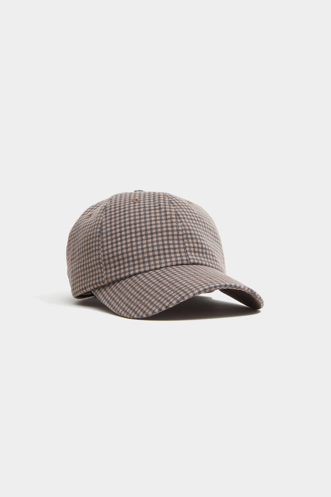 Hat - Brown Houndstooth