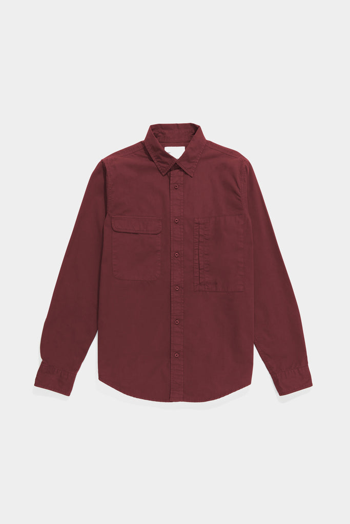 Twill Workshirt - Maroon