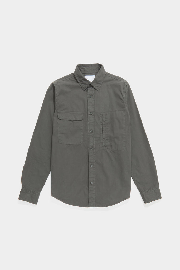 Twill Workshirt - Grey Green