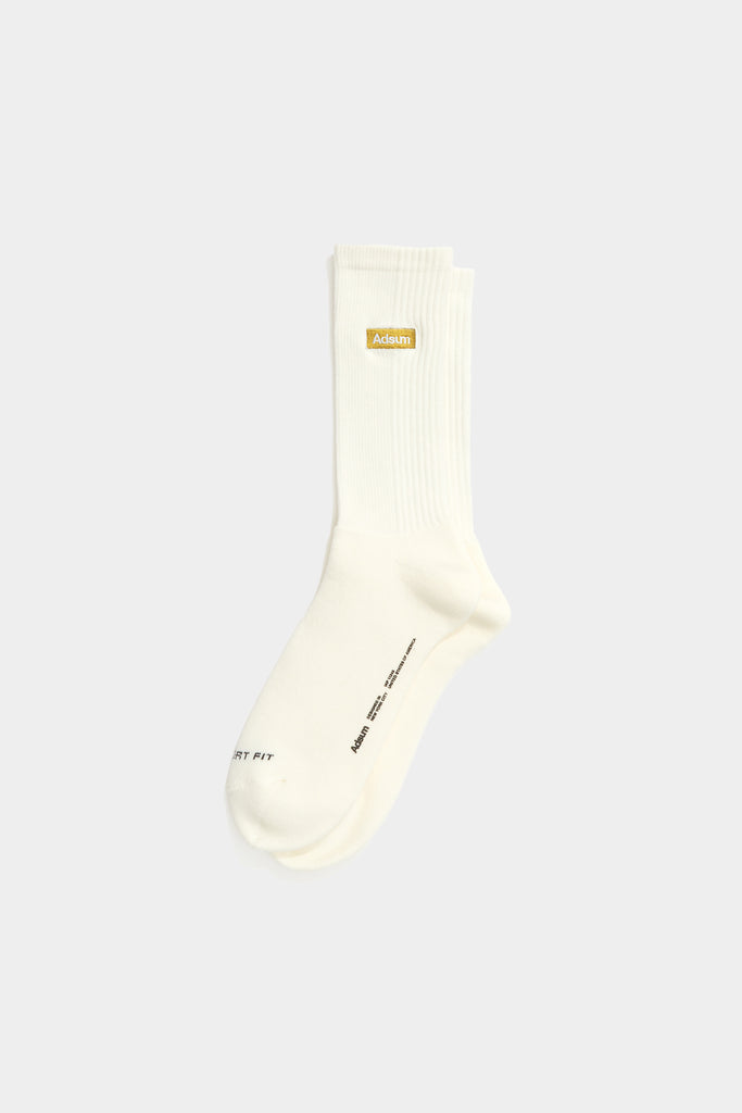 Classic Comfort Sock - White / Gold