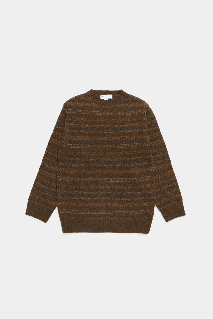 Nordic Crewneck Sweater - Brown