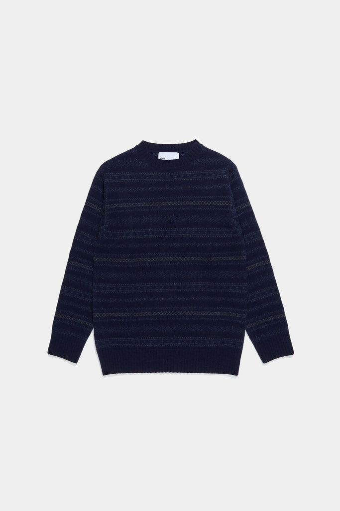 Nordic Crewneck Sweater - Navy