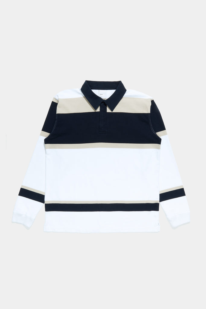 Rugby Shirt - White / Navy