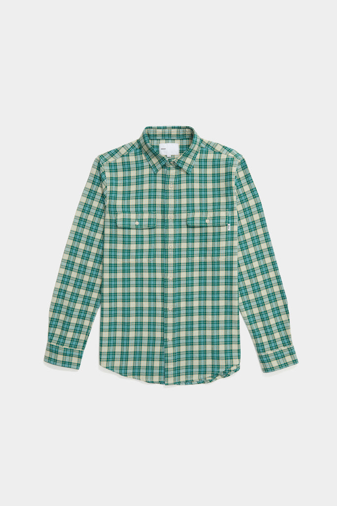 Oatmeal Plaid Workshirt - Evergreen