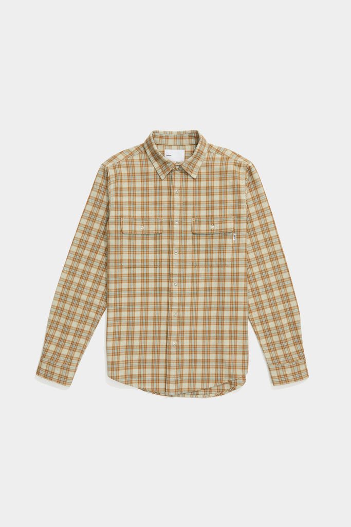 Oatmeal Plaid Workshirt - Brown