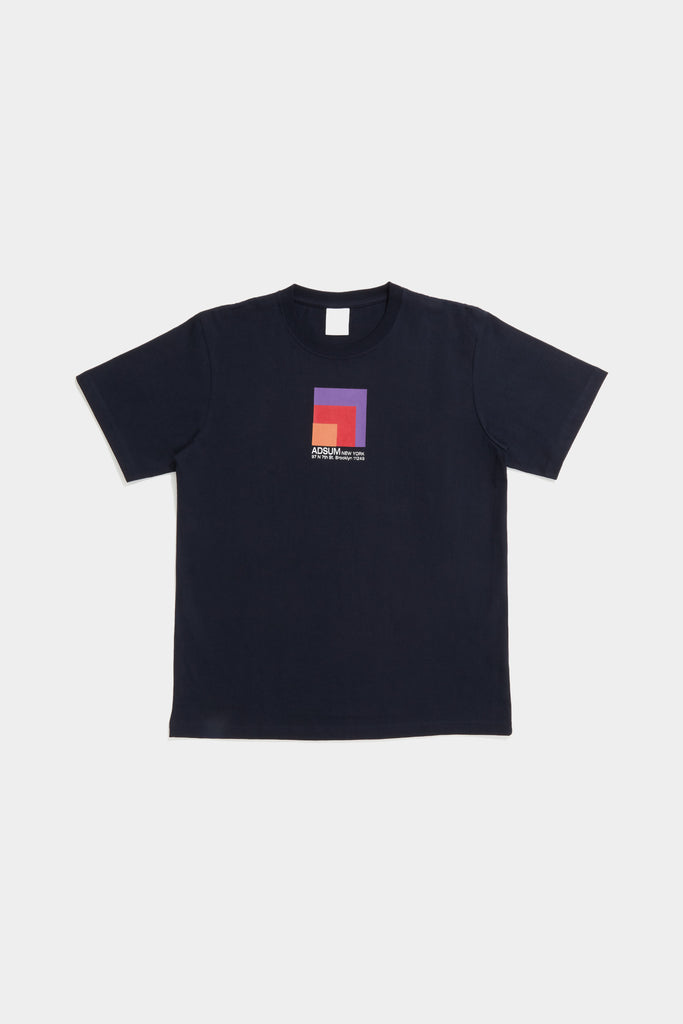 Block Tee - Dark Navy