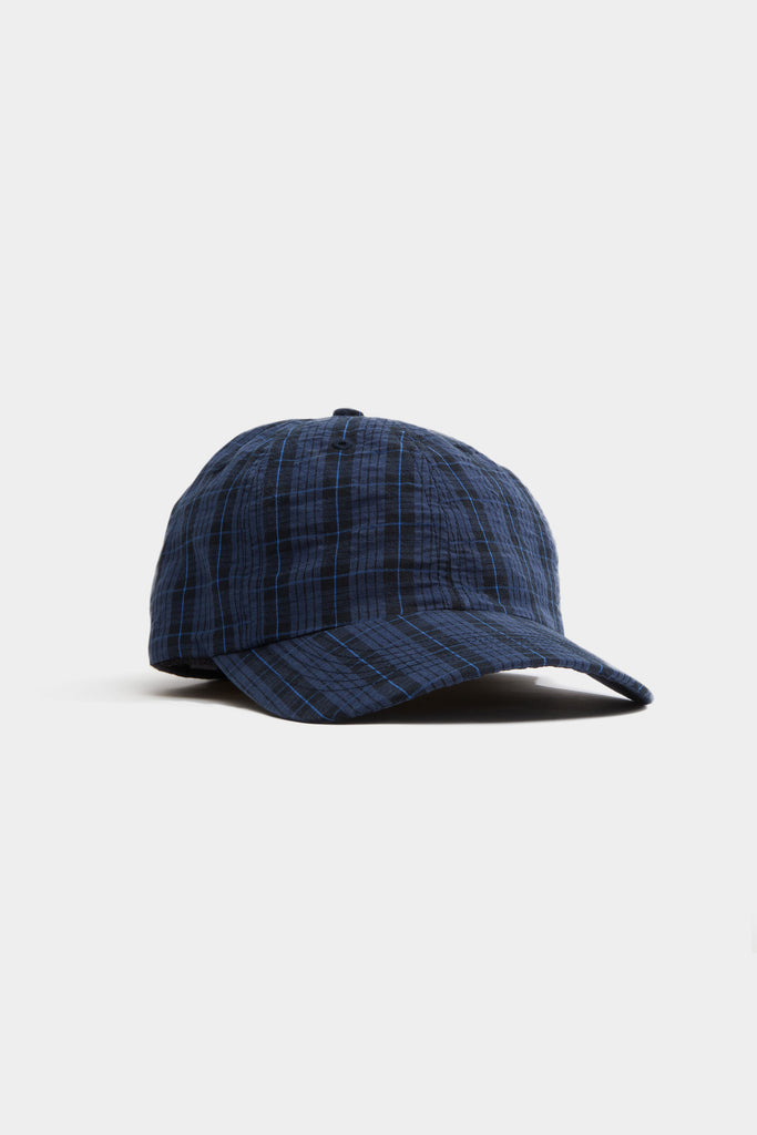 Breaker Hat - Navy Plaid