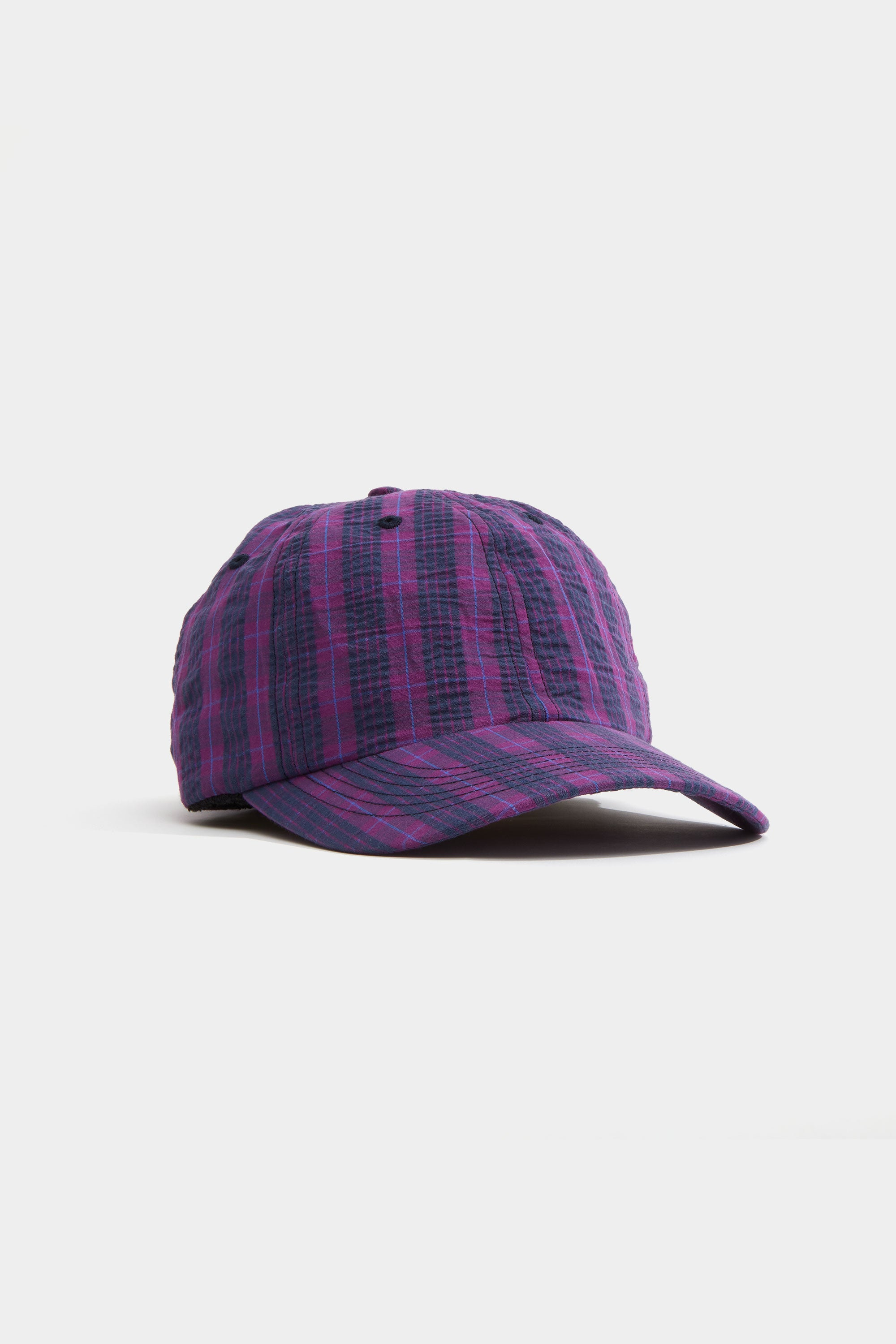 Adsum Purple Plaid Hat Front