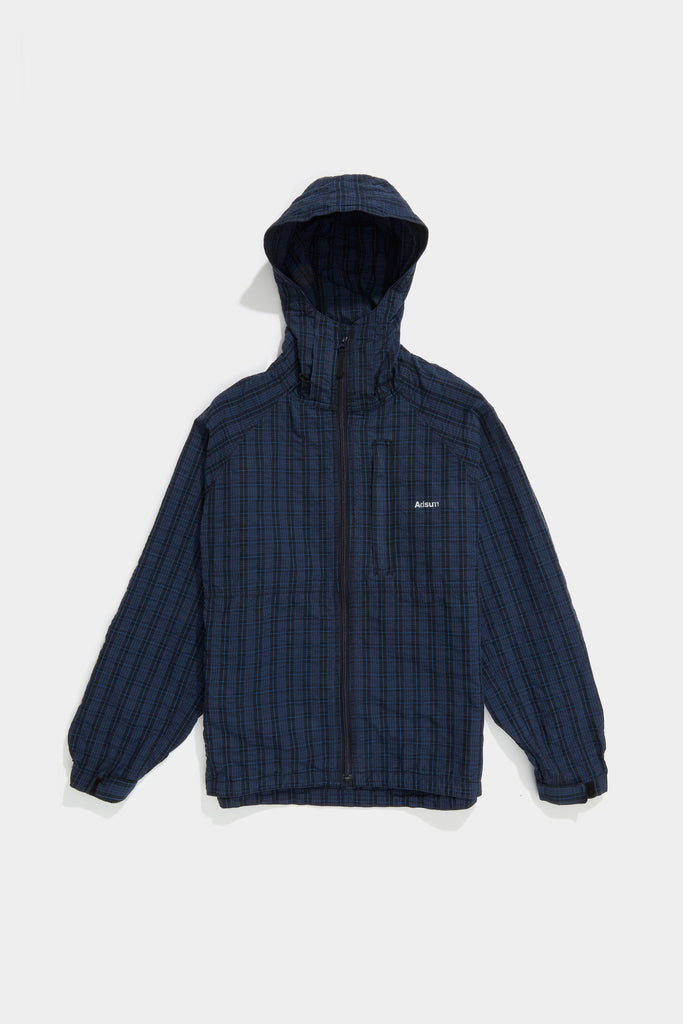 Plaid Breaker Jacket - Dark Navy / Azure