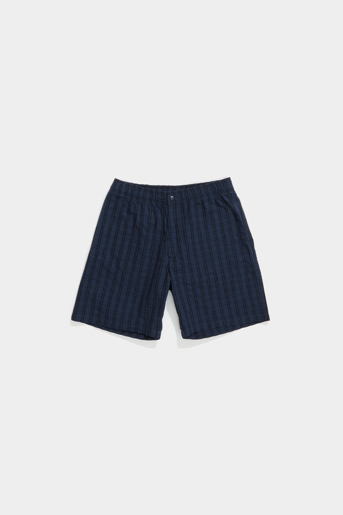 Bank Short - Navy Plaid