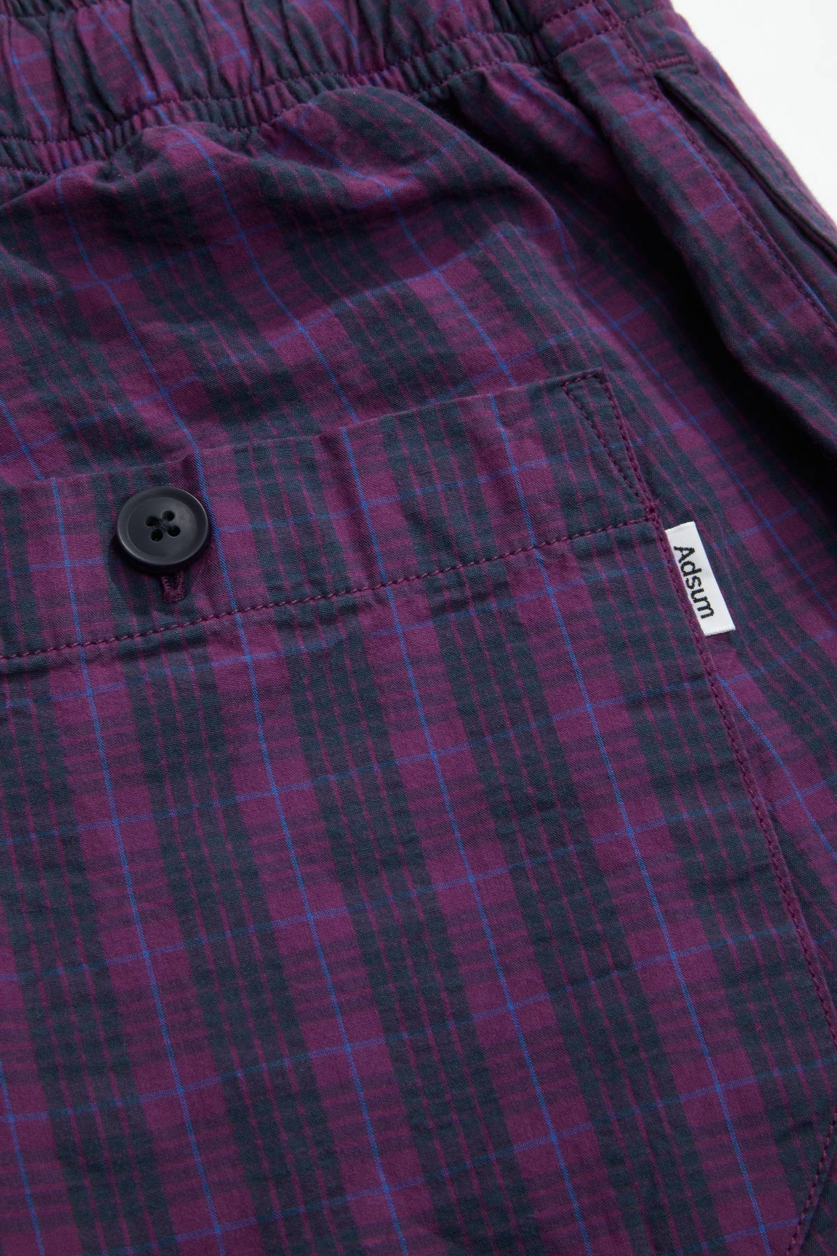 Adsum - Purple Plaid Button Detail