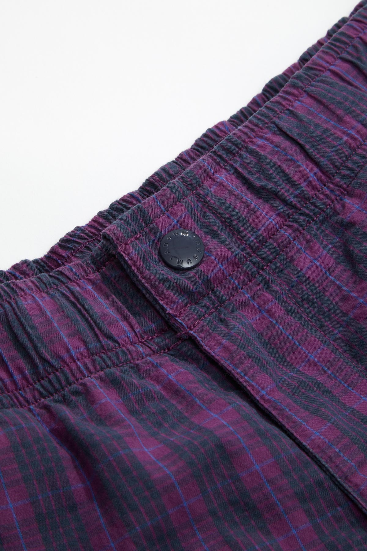 Adsum - Purple Plaid Bank Short Detail