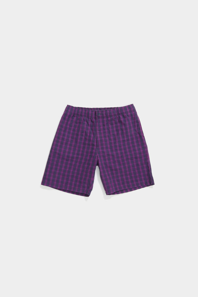Bank Short - Grape Plaid
