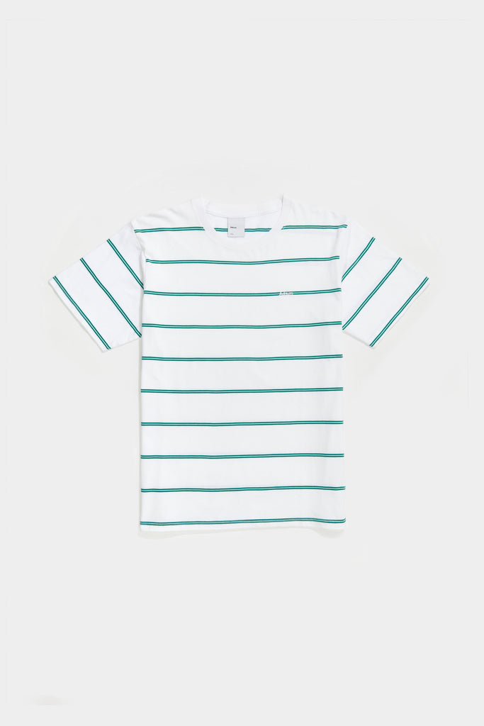 Double Stripe Tee - Mint / Evergreen