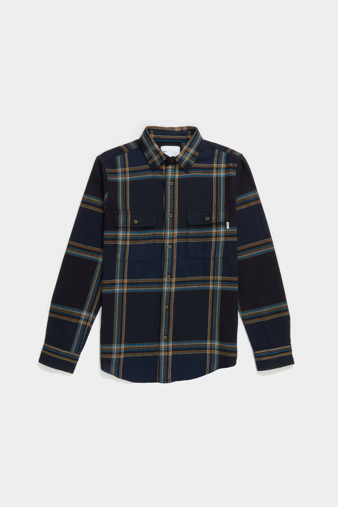 Big Plaid Workshirt - Dark Navy Plaid