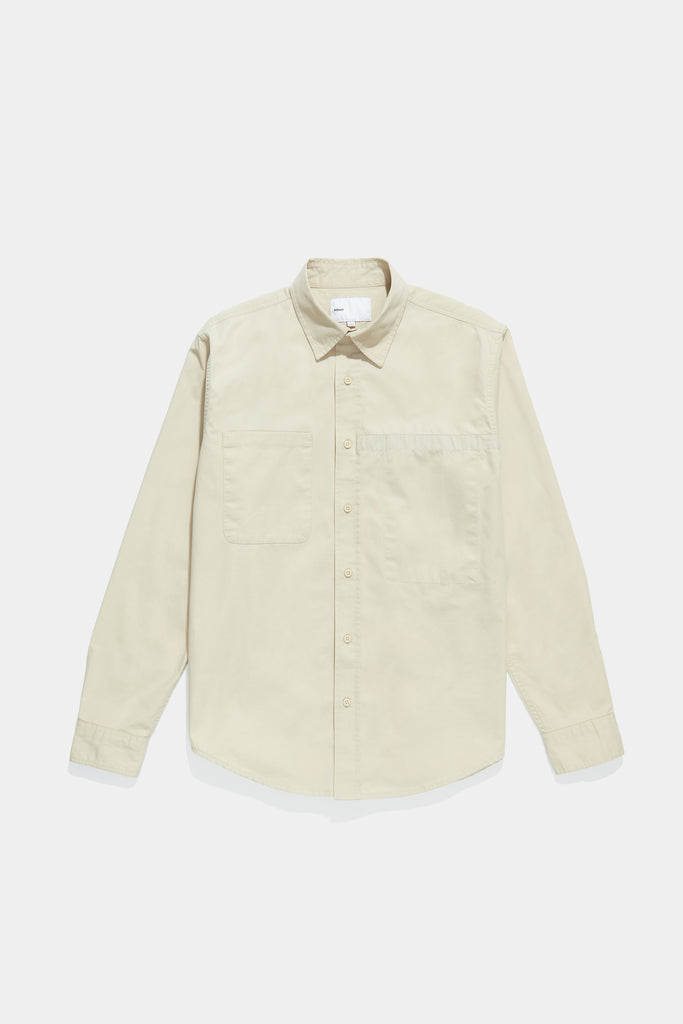 Asymmetrical Pocket Workshirt - Beige
