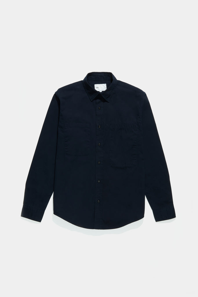 Asymmetrical Pocket Workshirt - Dark Navy