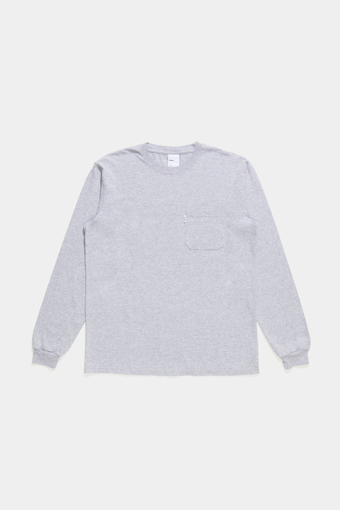 Classic Long Sleeve Pocket Tee - Bleached Heather